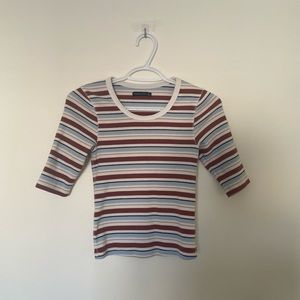 a&f fitted striped shirt